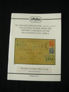 PHILLIPS AUCTION CATALOGUE 1988 MAIL WESTERN CAMPAIGN EAST AFRICA 'PENNYCUICK'