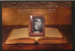 GIBRALTAR SGMS1469 2012 CHARLES DICKENS    MNH