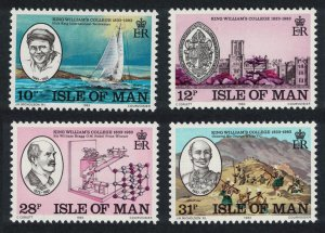 Isle of Man 150th Anniversary of King William's College 4v 1983 MNH SG#251-254