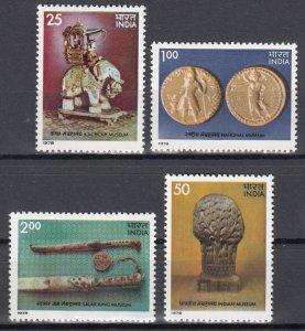 India, Sc 800-803, MNH, 1978, India Museum