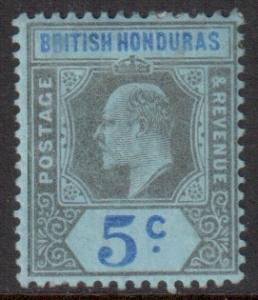 Br Honduras Scott 60 - SG82, 1902 Crown CA 5c MH*
