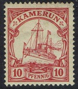 CAMEROUN 1900 YACHT 10PF NO WMK