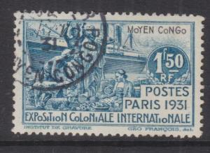 MIDDLE CONGO, 1931 International Exhibition 1f.50, used.