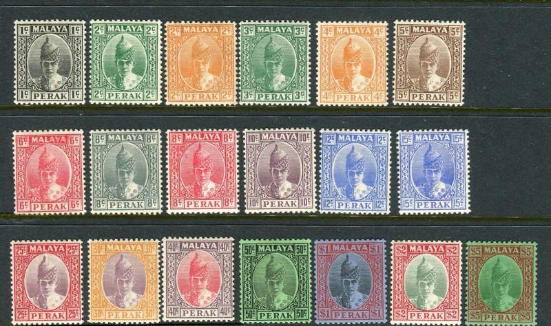 PERAK-1938-41  A lightly mounted mint set to $5 Sg 103-121