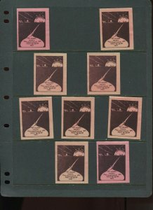 VINTAGE LOT OF 9 1931 MAGIC Poster Stamps SOCIETY OF AMERICAN (L1112)