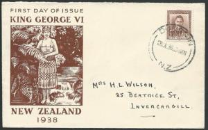NEW ZEALAND 1938 GVI 1½d commem FDC........................................51339