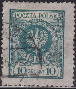 Poland 219 USED - 1924 Arms of Poland
