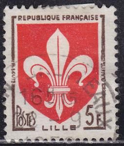 France 902 USED 1958 Arms of Lille