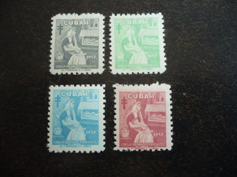 Stamps - Cuba - Scott# RA35-RA38 - Mint Hinged Set of 4 Stamps