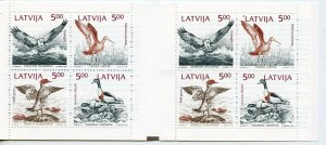 LATVIA BIRDS   COMPLETE UNEXPLODED BOOKLET  MINT NH