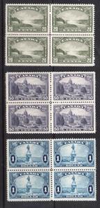 Canada #225 - #227 VF/NH Blocks