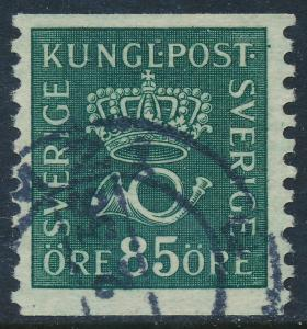 Sweden Scott 151 (Facit 166), 85ö deep green Postemblem, F-VF Used