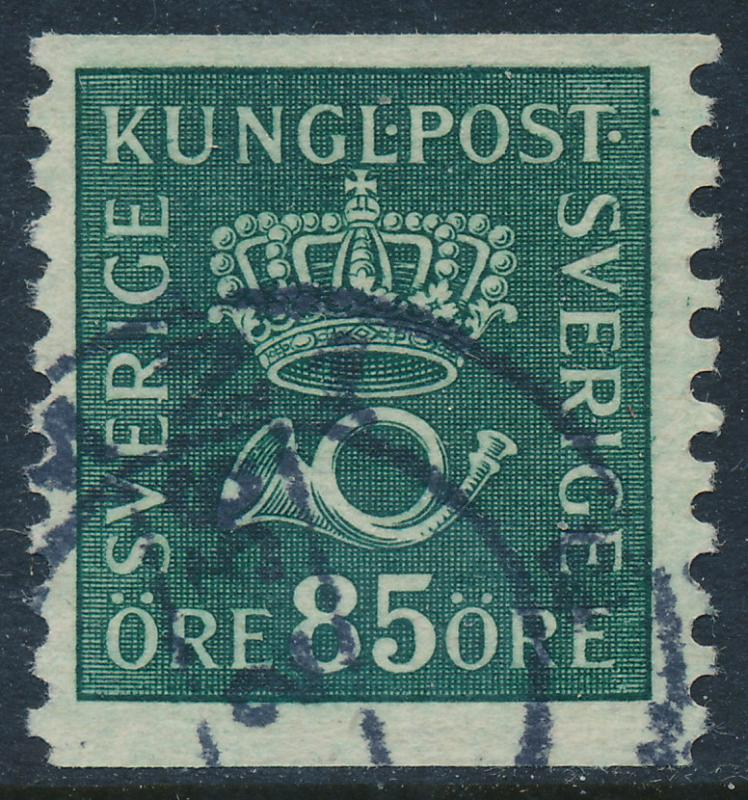 Sweden Scott 151 (Facit 166), 85ö deep green Postemblem, F-VF Used