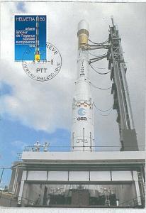 ASTRO SPACE : MAXIMUM CARD - SWIZZERLAND 1979