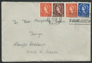 GB TO TONGA 1955 cover to Queen Salote.....................................83591
