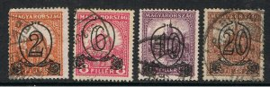 HUNGARY 1931 SURCHARGE'S