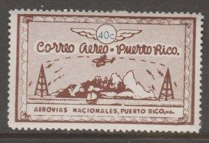 Puerto Rico Private airmail stamp MNH Gum- slight gum disturb 2-14-21-1f