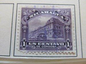 Nicaragua 1922 1c fine used stamp A11P11F45
