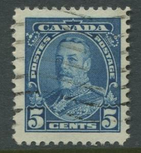 Canada -Scott 221 - KGV Definitive -1935 - FU - Single 5c Stamp