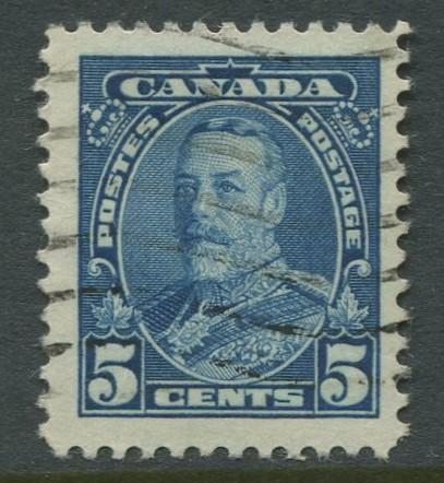 Canada -Scott 221 - KGV Definitive -1935 - FU - Single 5c Stamp