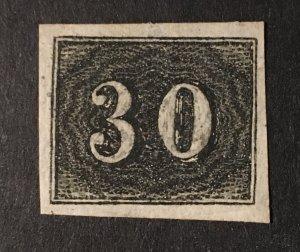 Brazil Sc. #23, mint, no gum, reprint?