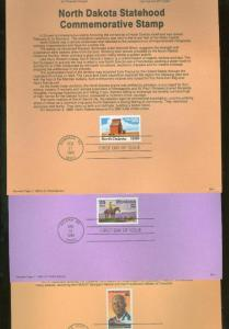UNITED STATES LOT I OF 40 DIFFERENT SOUVENIR PAGES  FIRST DAY CANCELLED SHOWN