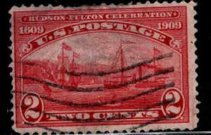 USA Scott 372 Used 1909 Hudson Fulton stamp