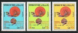 Iraq 865-867,MNH.Michel 964-966. International Fair,Baghdad-1978.Atom.