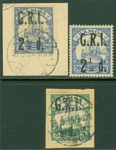 EDW1949SELL : NEW BRITAIN 1914 Mi #2II VF Used 4II VF MOG 4III VF Used Cat €280.
