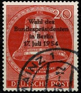 GERMANY BERLIN 1954 PRESIDENTAIL ELECTION USED (VFU) SG B115 Wmk.M7 P.14 SUPERB