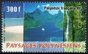 French Polynesia 903, MNH. Polynesian Landscapes, 2005