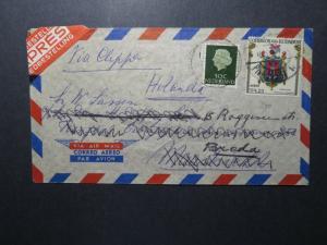 Ecuador 1960 Clipper Cover to Holland / MIXED FRANKING / Light Fold - Z12650