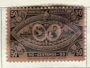 GUATEMALA;  1897 early classic issue used 50c. value