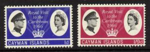 Cayman Islands 180-1 MNH Queen Elizabeth Royal Visit