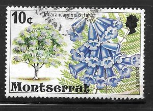 Montserrat 344: 10c Jacaranda, used, VF
