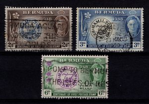 Bermuda 1949 Centenary of Postmaster Perot's Stamp Set [Used]