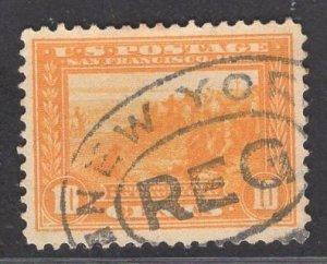 US Stamp #400 10c Orange Yellow SF Bay  USED SCV $20.00