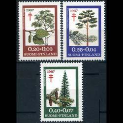 FINLAND 1967 - Scott# B179-81 Trees Set of 3 NH