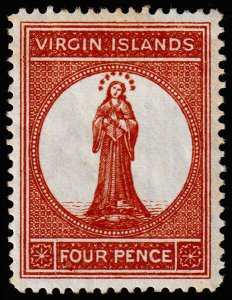 British Virgin Islands Scott 16a (1887) Mint H F-VF, CV $45.00 M