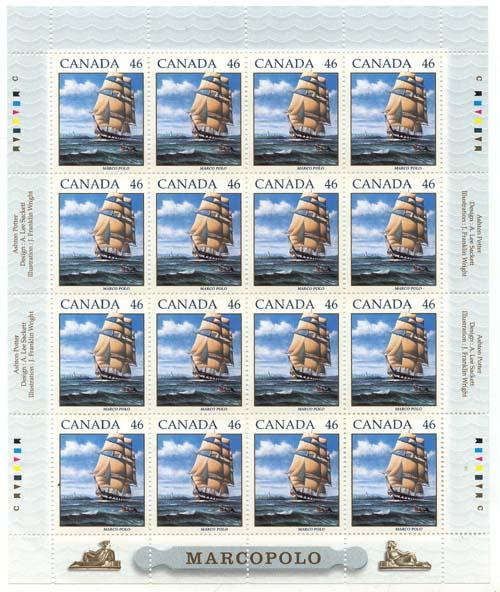 Canada - 1999 Sailing Ship Marco Polo Sheet mint #1779