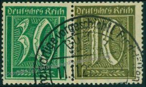 Germany Empire Germania Mi W19 Expertized Zusammendruck ZSD Se-Tenant 74902