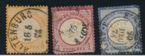 Germany Stamps Partial Set Scott #16-8, Used, Faults - Free U.S. Shipping, Fr...