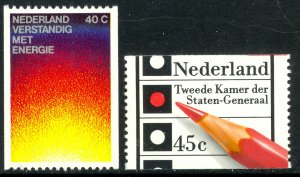 NETHERLANDS 1977 ENERGY AND ELECTIONS Coil Set Sc 565-566 MNH