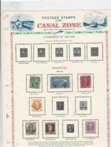 canal zone 1928-40 stamps sheet  ref 10779