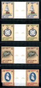 Ascension 235-238 MNH Capt. James Cook's Voyages Sailing ship Discovery, x20364