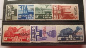 ERITREA  Scott  168-174 set  MINT LIGHTLY HINGED OG   I7  Cat $123