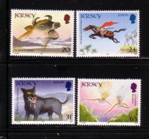 Jersey  Sc 796-9 1997 Europa Legends stamp set mint  NH