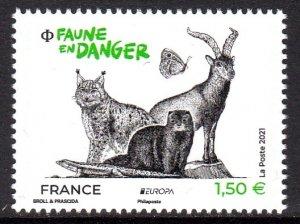 FRANCE 2021 EUROPA CEPT WILD ANIMALS ANIMAUX SAUVAGE [#2115]