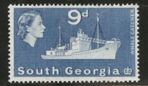 South Georgia Scott 9 MH* 1963 9p blue CV $6.25