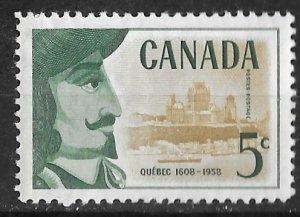 Canada # 379  Quebec Founding     (1)  VF Unused VLH